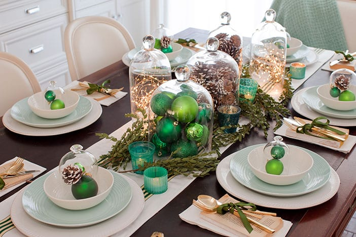 Dressing my dining room for christmas jillian harris Christmas table dressing