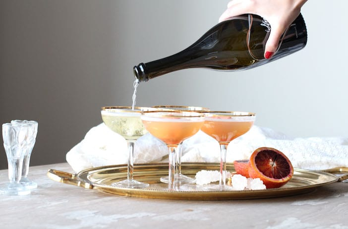 Blood Orange Champagne Floats - Jillian Harris