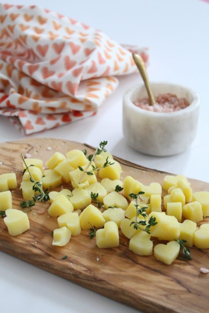 Valentine's heart potatoes