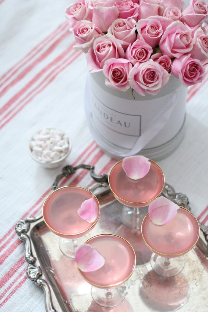 Valentine 39 s drinks lady rose jillian harris for Cocktail rose