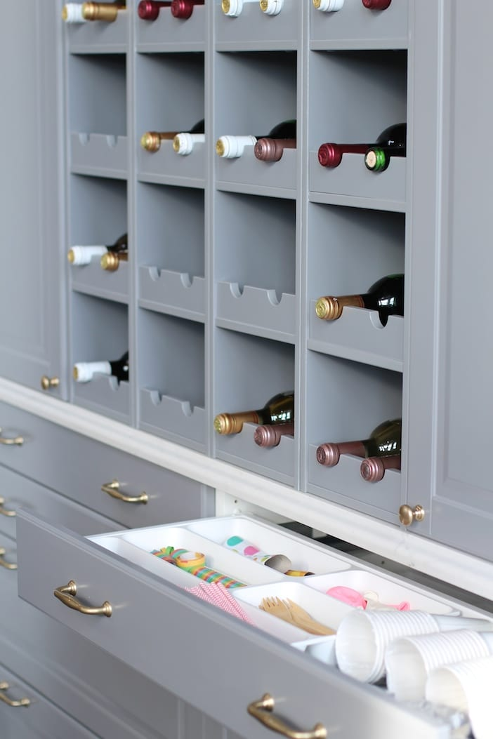 My ikea sektion kitchen jillian harris for Wine rack built in