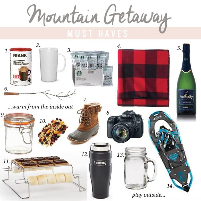 mountain getaway musthaves