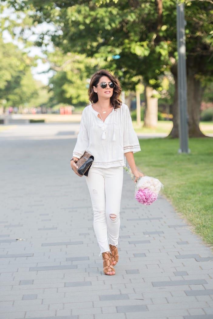 White On White On Date Night Jillian Harris
