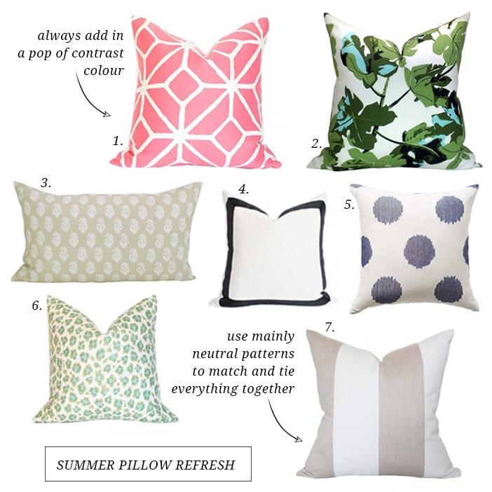 summer pillow refresh