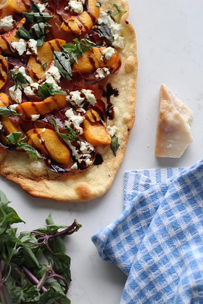 ... prosciutto and goat cheese recipe peach goat cheese prosciutto pizza