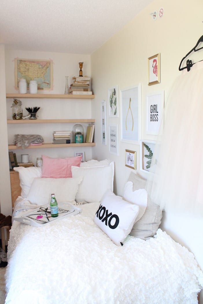 My 3 decor tips to decorate a dorm room jillian harris How to decorate a small bedroom cheap