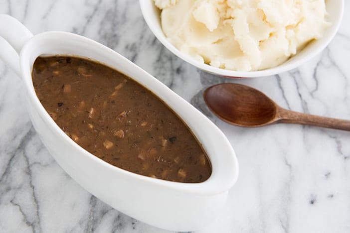 ... vegetarian mushroom thyme gravy by food 52 vegan gravy by jamie oliver