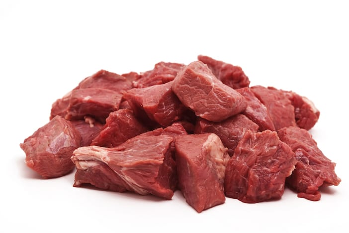chopped raw meat
