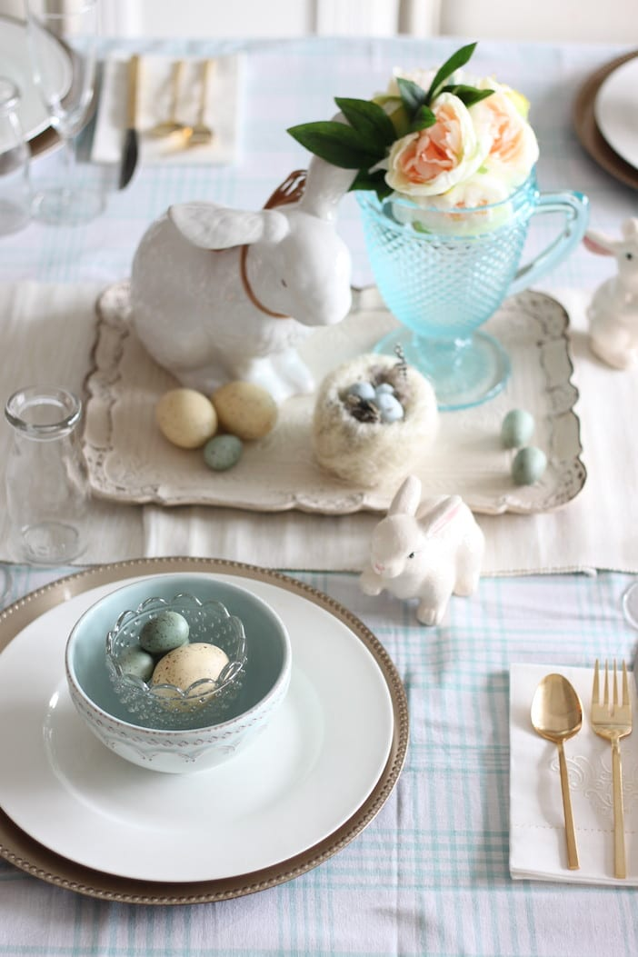 Setting the table for easter dinner jillian harris Dinner table setting pictures