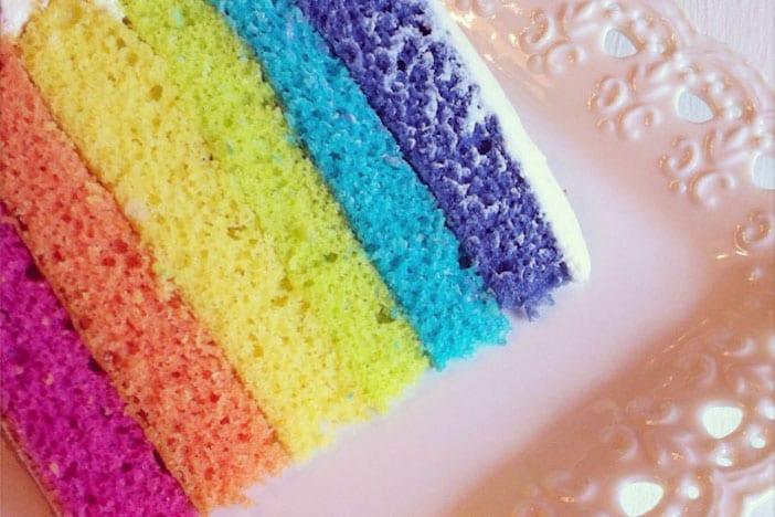 Easter Long Weekend Menu - Rainbow cake