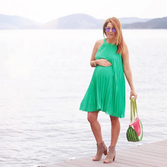 Jillian Harris wearing green modcloth dress