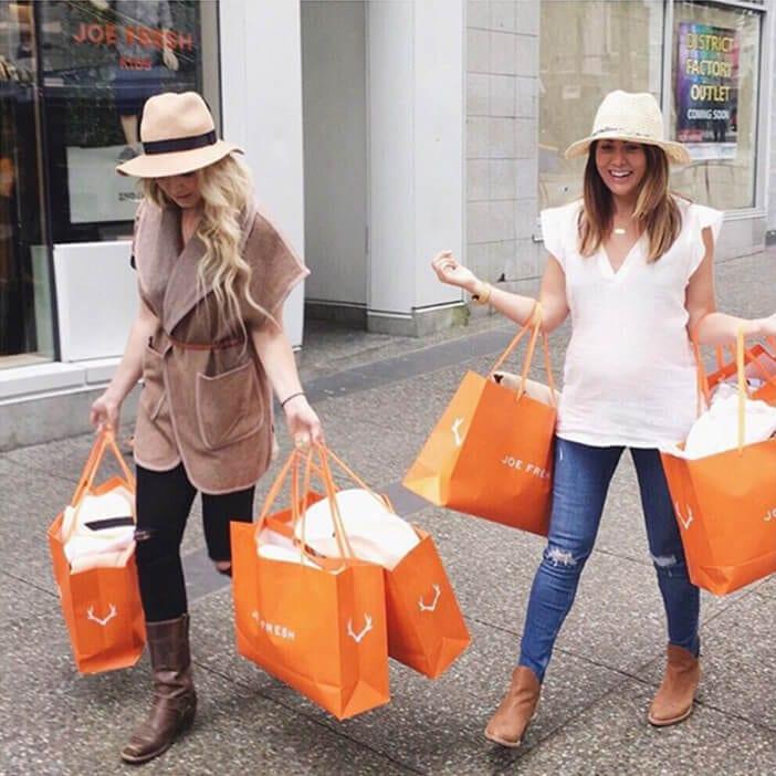 Jillian Harris on JOE FRESH shopping spree with BFF