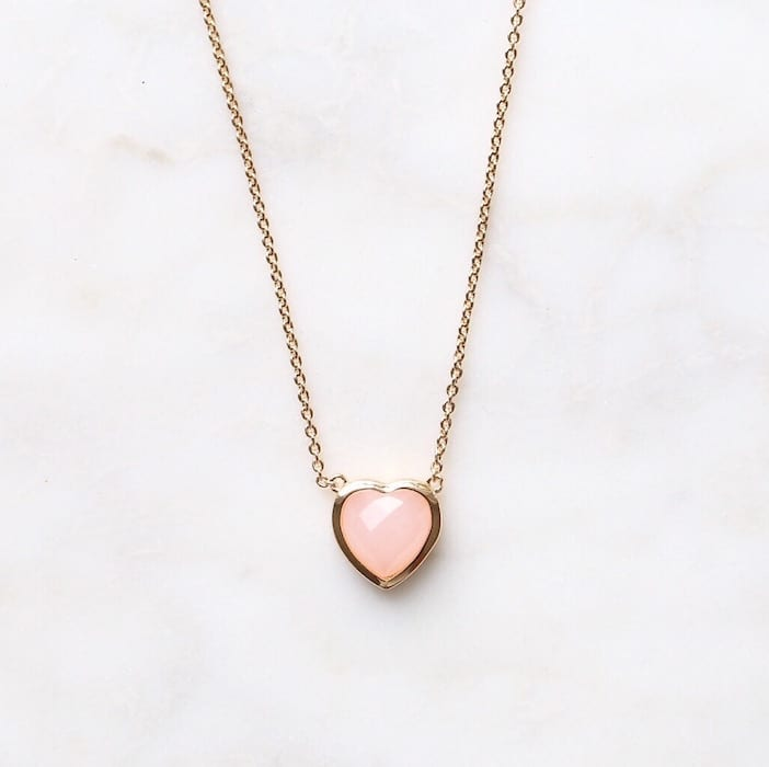 Jillian Harris x Melanie Auld Jewlery Collection - Rose Quartz Heart Necklace