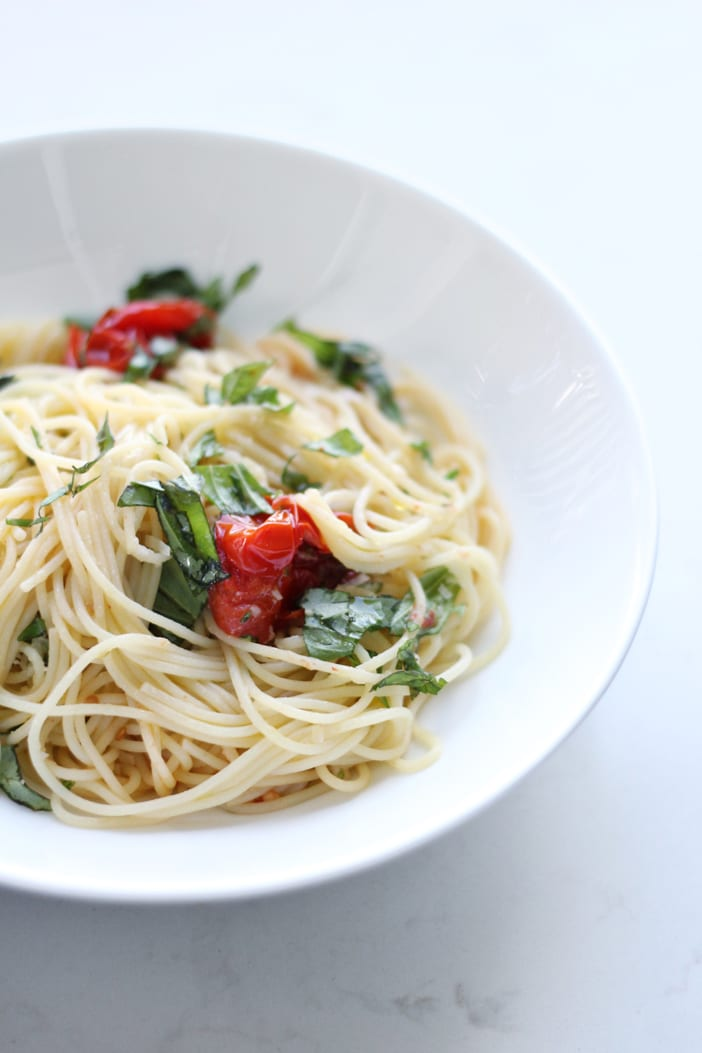 roasted tomato basil capellini jillian harris