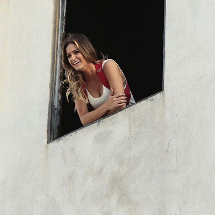 """THE BACHELORETTE - """"Episode 1202"""" - Twenty anxious men look to get their love story with JoJo off to a good start. The the first group date give ten lucky bachelors a chance to see sparks fly when they head for a firefighting training facility, where one of the guys might need saving himself. JoJo and Derek get to pick their own adventure, and they choose a romantic picnic by the Golden Gate Bridge in San Francisco. Six bachelors get a dream date to ESPN's popular """"SportsNation"""" with hosts Max Kellerman and Marcellus Wiley. They are sure they will be able to help JoJo find a perfect match, but Chad seems determined to """"shock and awe"""" all the way up to the rose ceremony, on """"The Bachelorette,"""" MONDAY, MAY 30 (8:00-10:01 p.m. EDT), on the ABC Television Network. (ABC/Rick Rowell) JOJO FLETCHER"""