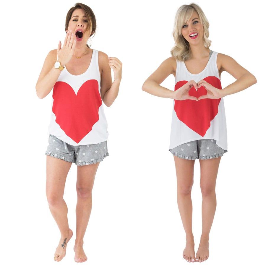 I've got a heart on short pjs