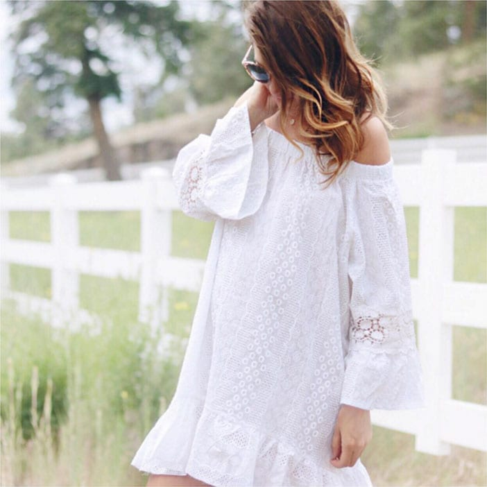 Jillian-Harris-wearing-white-boho-dress