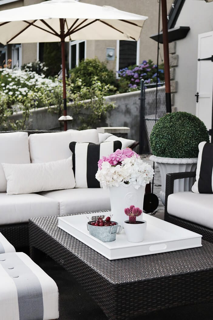 How to create the ultimate outdoor space jillian harris - Patio furniture ideas pinterest ...