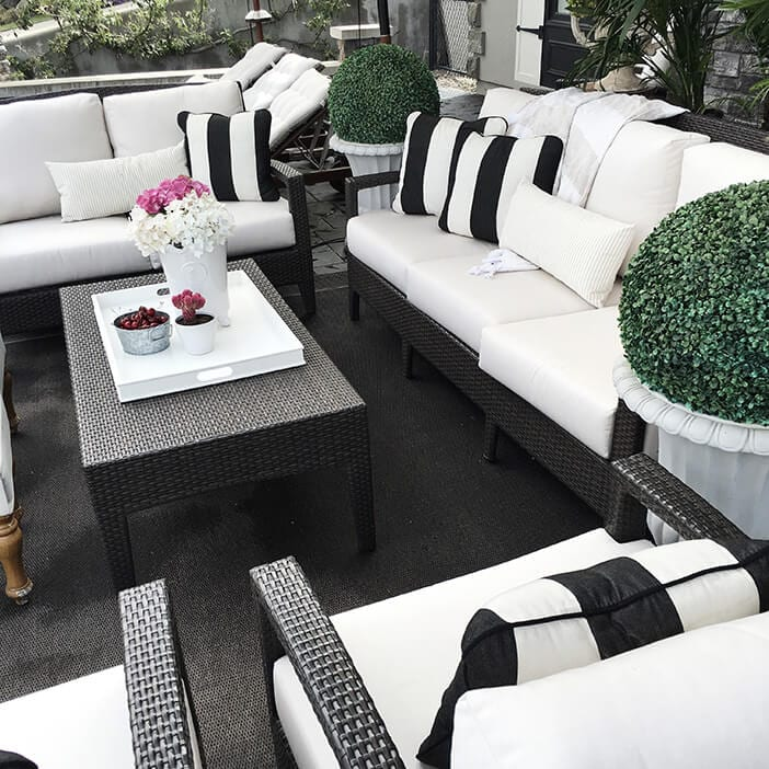 How To Create The Ultimate Outdoor Space - Jillian Harris on Black And White Patio Ideas id=12219
