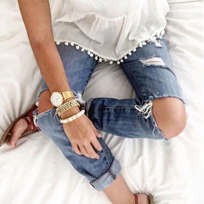 jillian-white-pompom-shirt