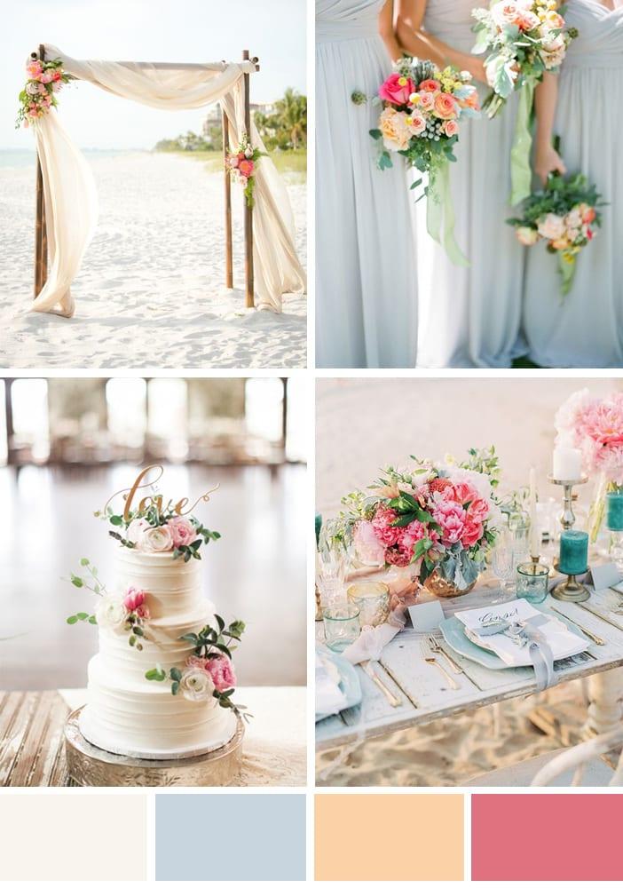 Wedding Colour Scheme Peachy Pink