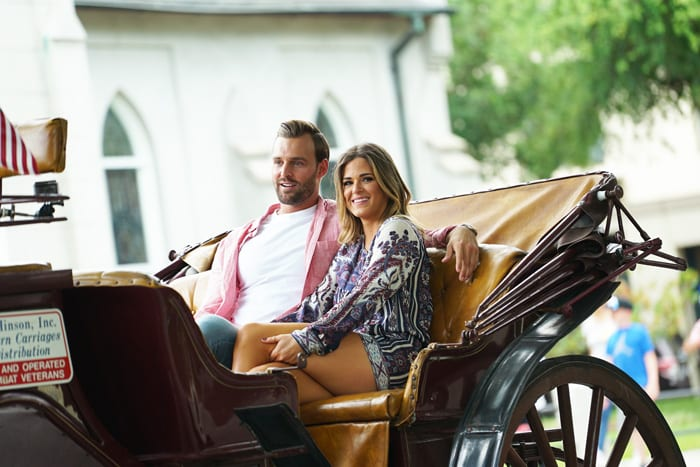 """THE BACHELORETTE - """"Episode 1208"""" - JoJo's emotionally charged, whirlwind world tour to find love comes back to the U.S. as she travels across country to visit Chase, Jordan, Luke and Robby. Her spirit and resilience is about to be tested by the men and their loved ones, as she tries to figure out if she can love more than one man at a time. Are all these bachelors ready to be married? JoJo will try and find out from the people who know them best, as she moves closer to making her fairytale come true, on """"The Bachelorette,"""" MONDAY, JULY 18 (8:00-10:01 p.m. EDT), on the ABC Television Network. (ABC/Michael LeGrand) ROBBY, JOJO FLETCHER"""