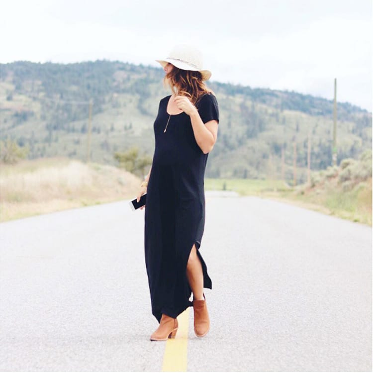 Jillian-Harris-Joe-Fresh-Black-Dress
