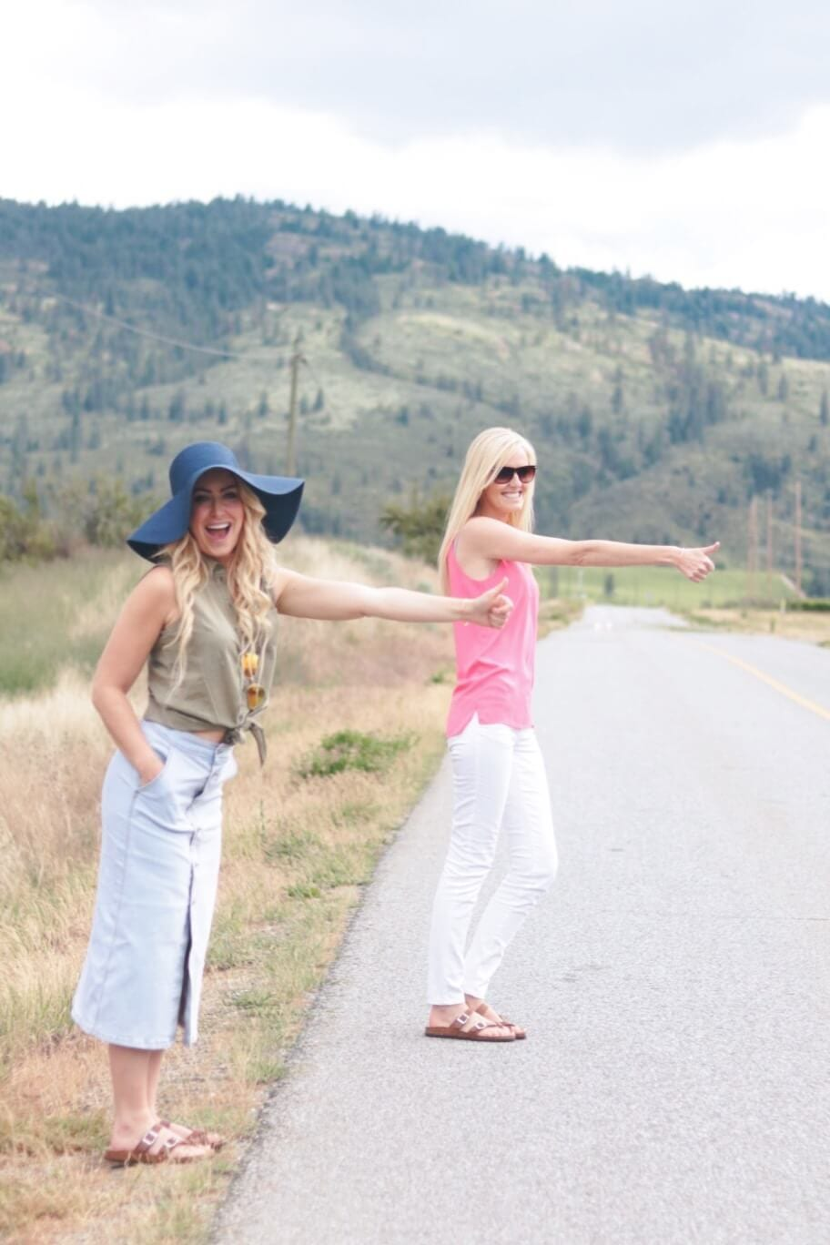 jillian harris' best friends hitch hiking