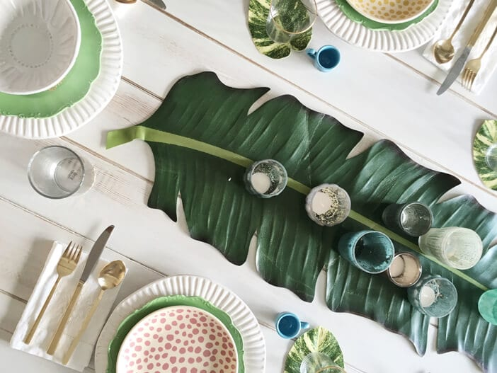 Jillian Harris Modcloth Tropical tablescape