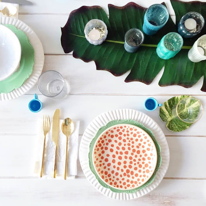 Spotted Plate Set from Modcloth