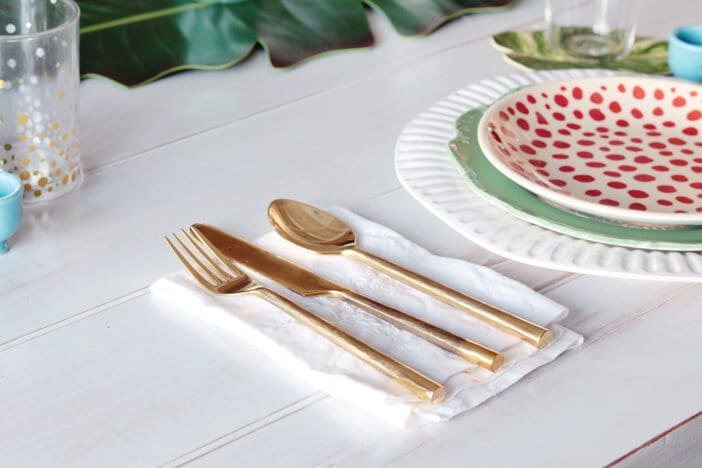 Gold flatware modcloth