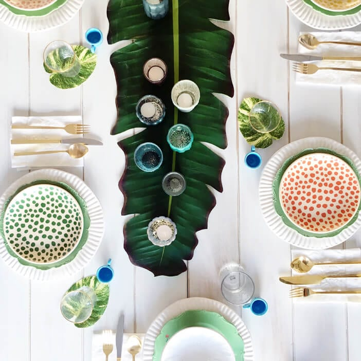 Jillian Harris Tropical Tablescape