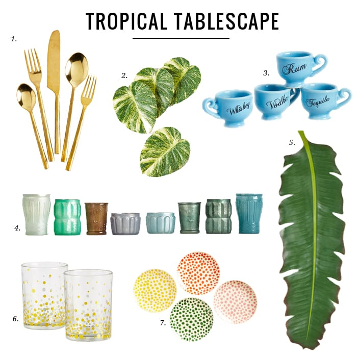 Modcloth Tropical Tablescape