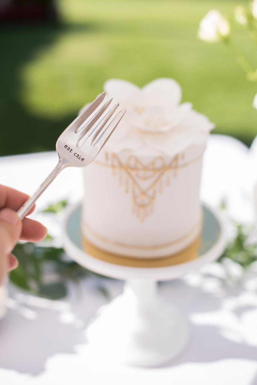 Jillian Harris Baby Shower cutlery