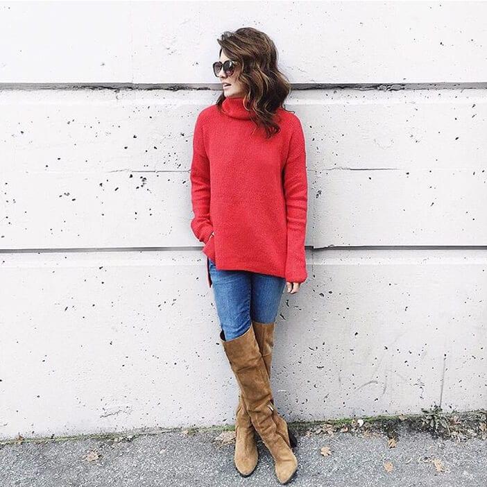 jillian-red-sweater-boots