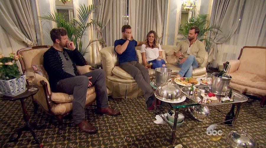 3 on 1 date on last nights episode of Bachelorette