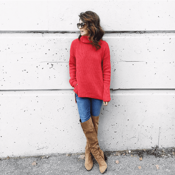 Jillian Harris Knee High Tan Suded Boots