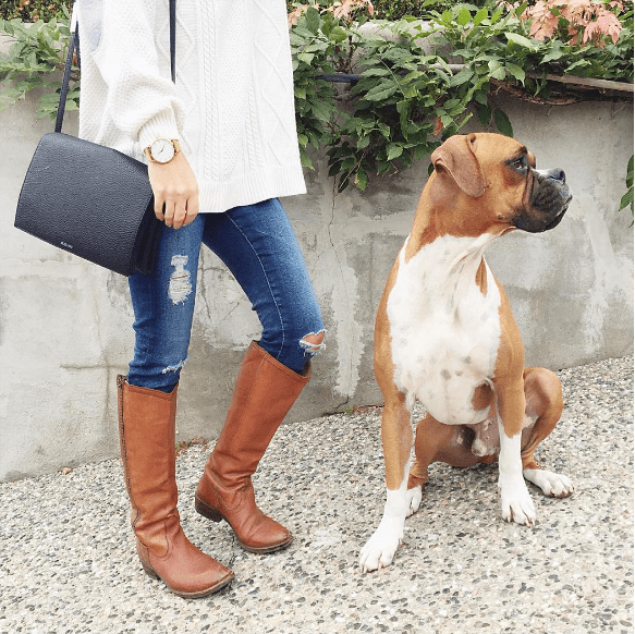 Jillian Harris in Tan Frye Boots with Nacho