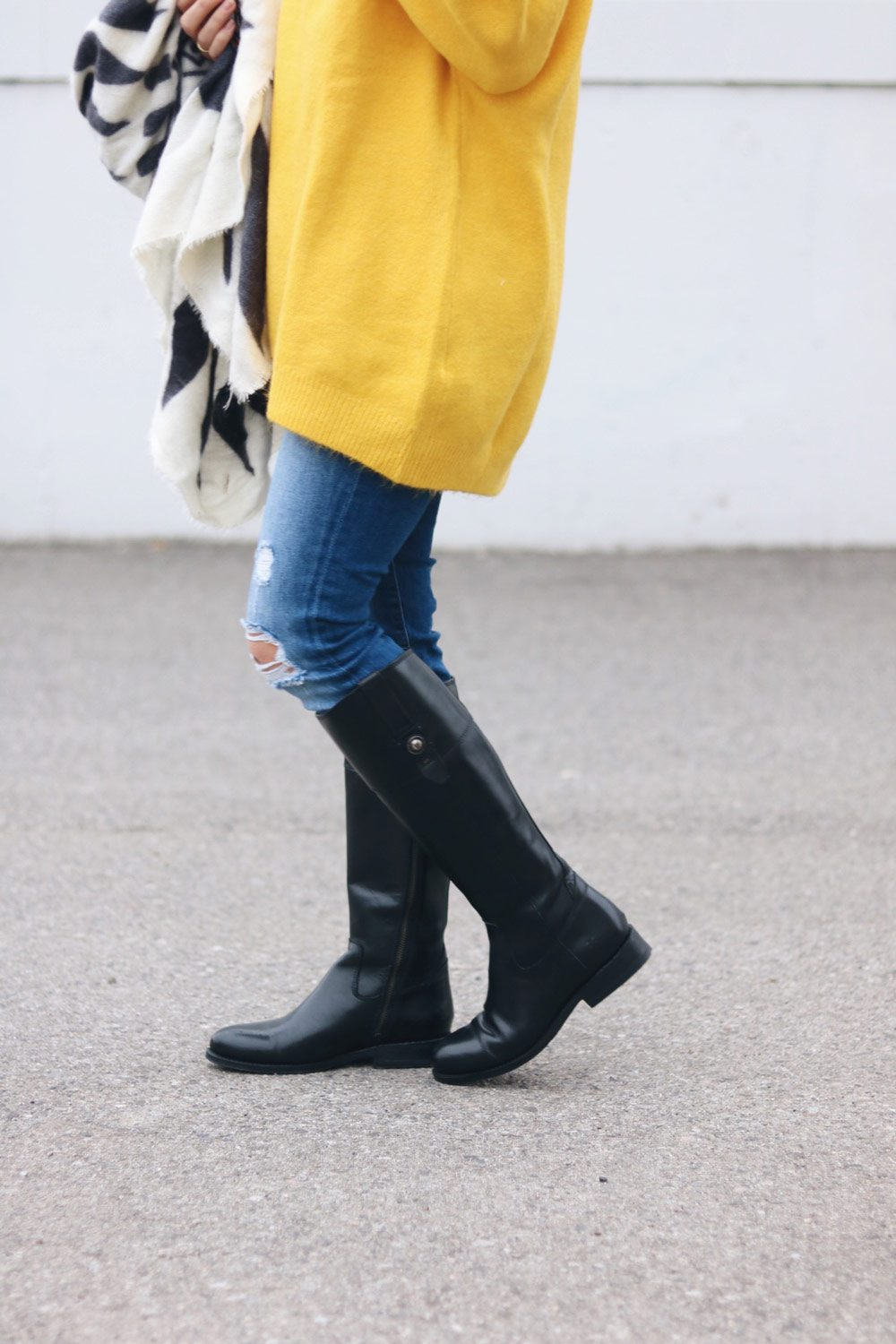 frye-boots-and-yellow-zara-sweater