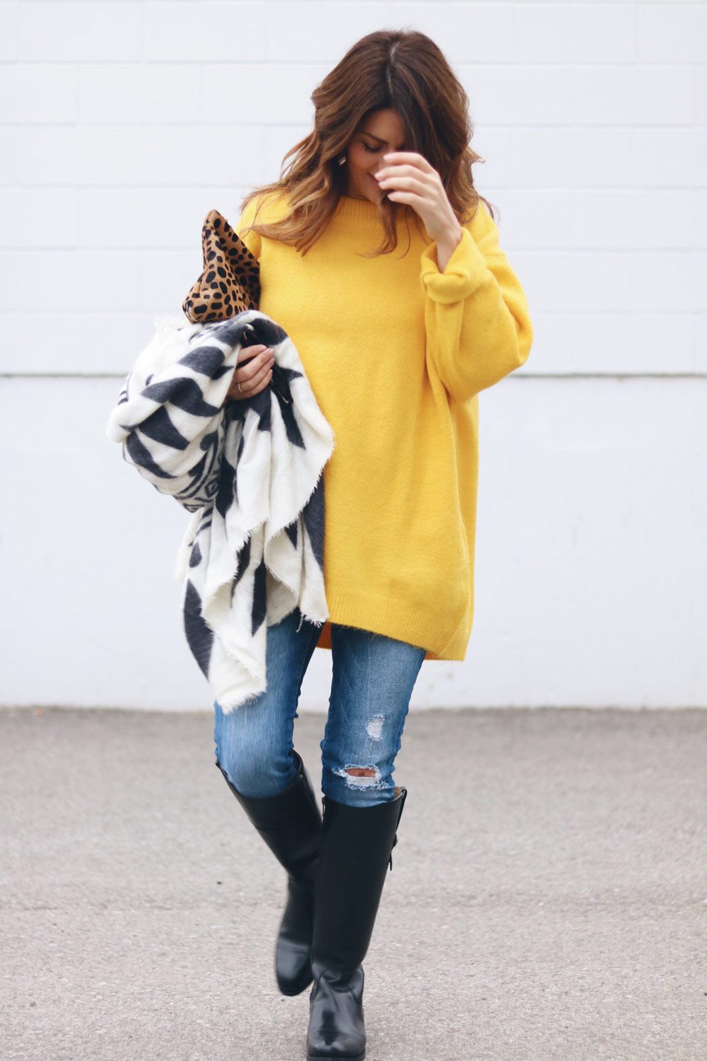 yellow-zara-sweater