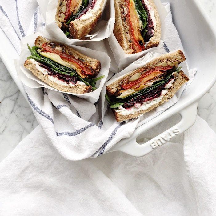roasted veggie sandwich on national sandwich day