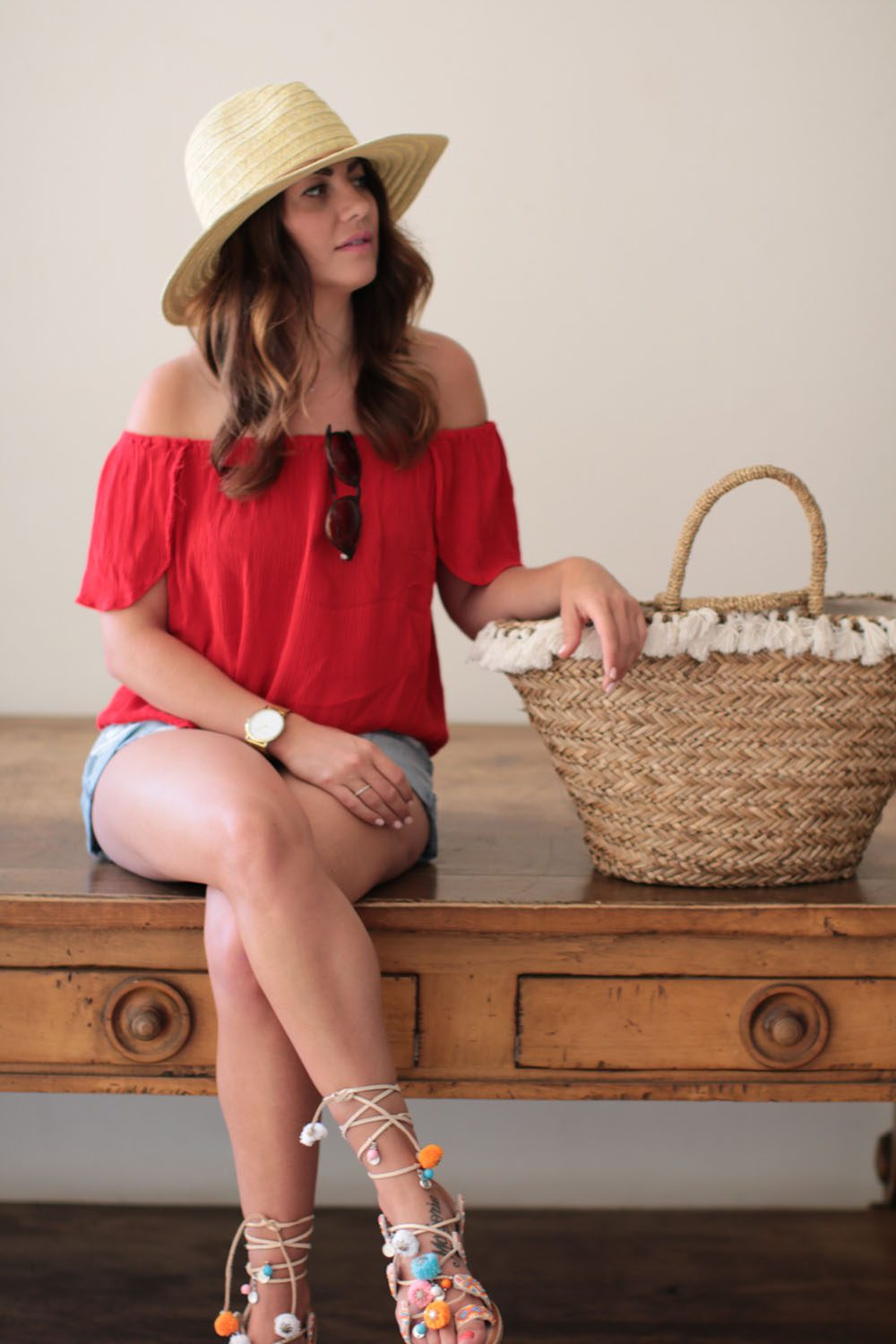jillian-in-goodnight-macaroon-red-strapless-top