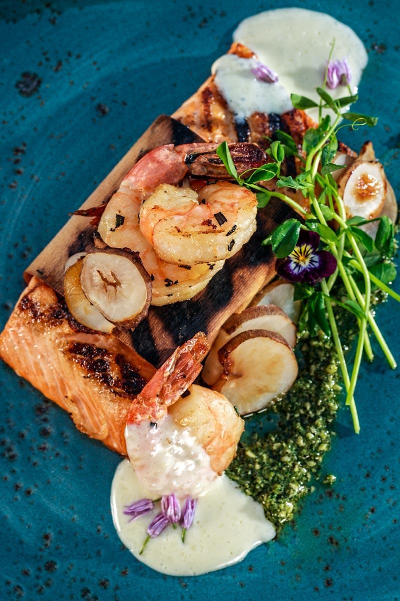 Whistler, BC; May 30, 2016: Nita Lake Lodge Cure Lounge cocktails and summer menu for Aura Restaurant. Photo: Joern Rohde/www.joernrohde.com