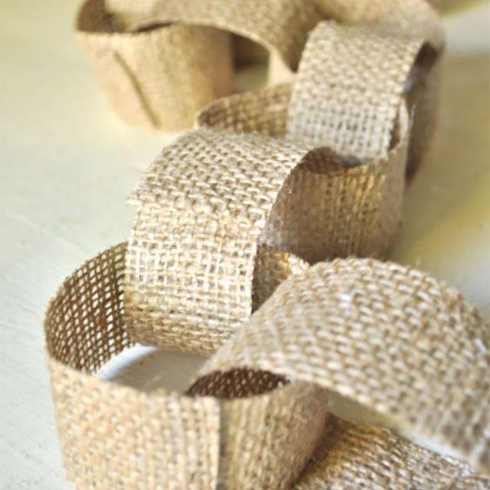 burlap-chains