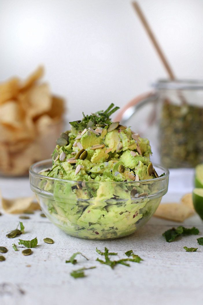 Mint Basil Guacamole with Tofu by Erin Ireland