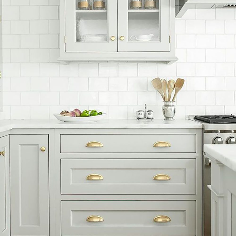 Grey Kitchen Cabinets Gold Hardware the end of an era: no more white kitchens - jillian harris