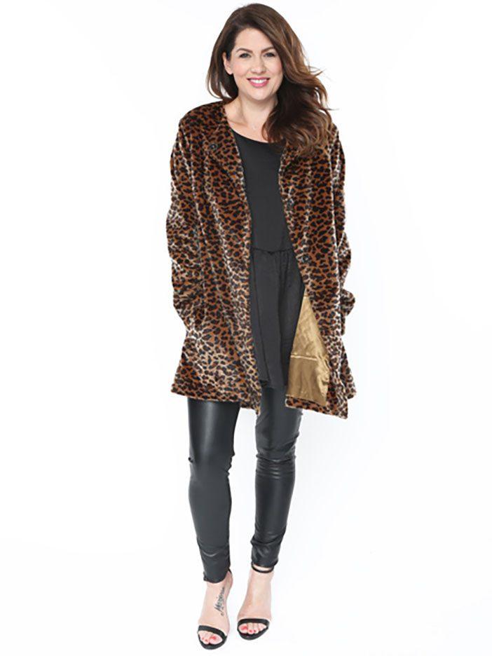 Jillian Harris - Faux Leopard Jacket
