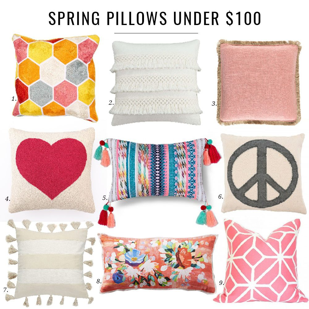 Spring Pillow Round Up