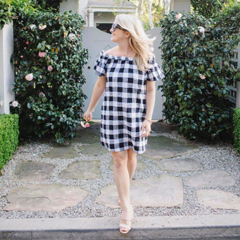 Jillian Harris - Gingham Trend-14