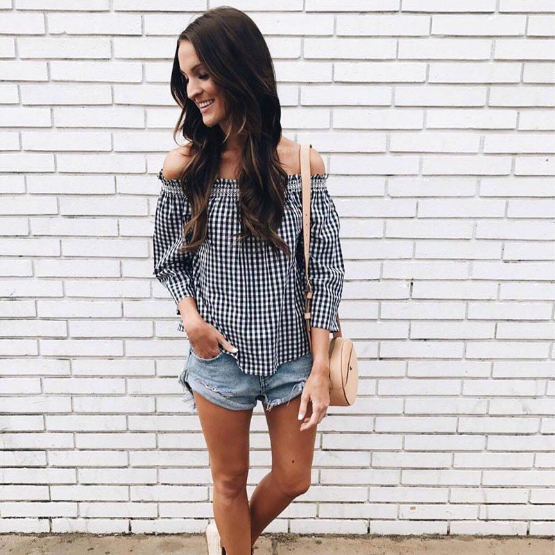 Jillian Harris - Gingham Trend-19